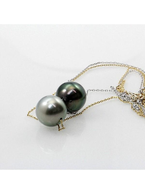 Collier Mia 2 perles de tahiti Moea Perles - 2