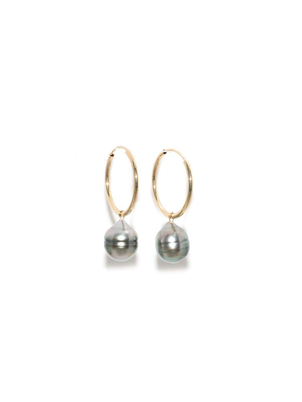 Boucles d'oreilles créoles Ninaea Moea Perles - 2
