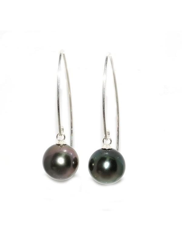Boucles d'oreilles Pia perle de Tahiti Moea Perles - 1