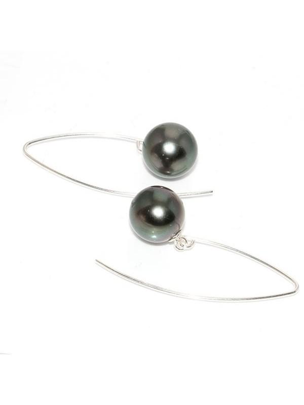 Boucles d'oreilles Pia perle de Tahiti Moea Perles - 2