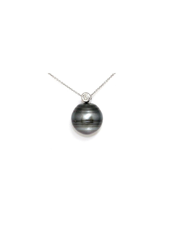 Pendentif en or Vairua perle de Tahiti Moea Perles - 1
