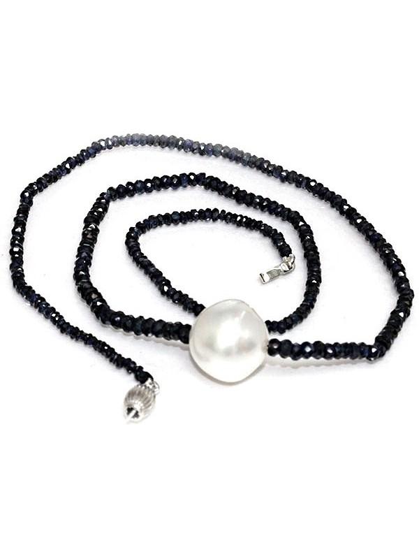 Collier perle australie et saphir Moea Perles - 1