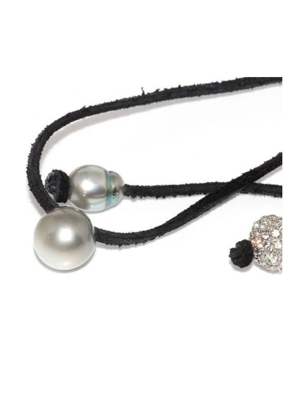 Collier cuir noir 13mm Moea Perles - 3