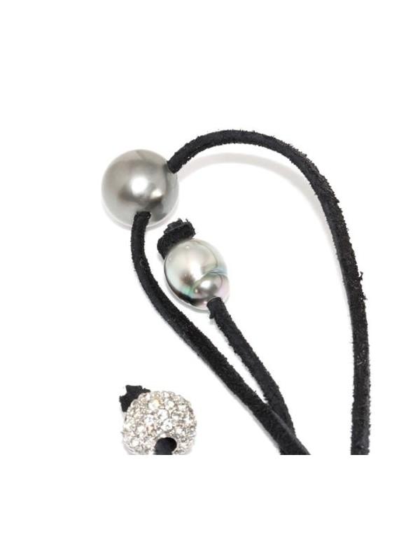 Collier cuir noir 13mm Moea Perles - 4