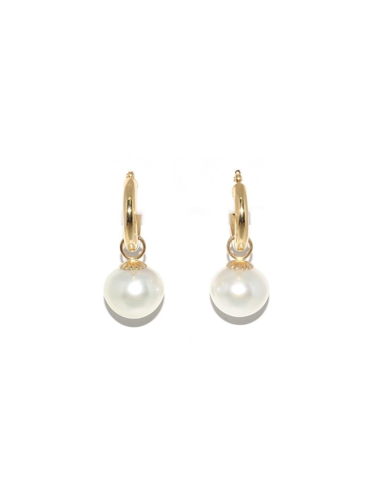 Boucles d'oreilles créoles Faanui Moea Perles - 1