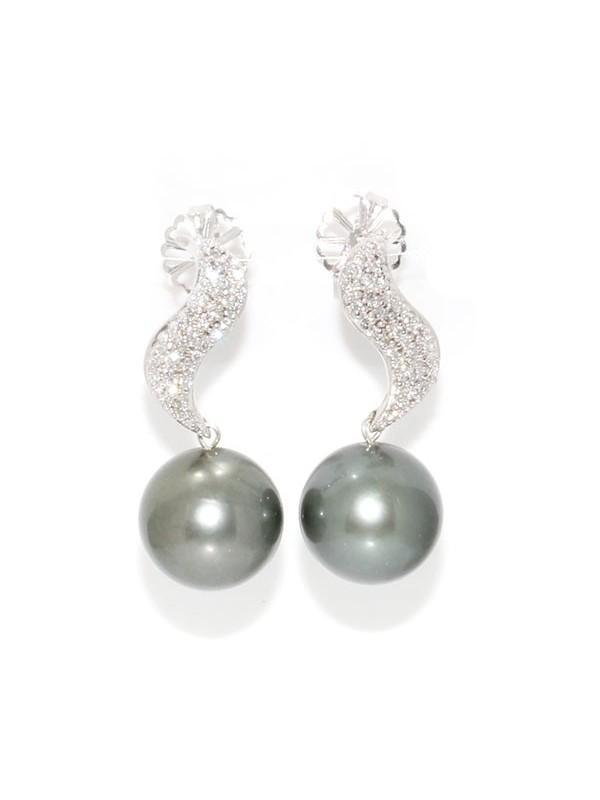 Boucles d'oreilles Haloa Moea Perles - 1