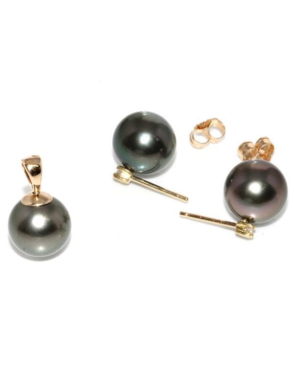 Parure or Hinarau perles de tahiti Moea Perles - 1