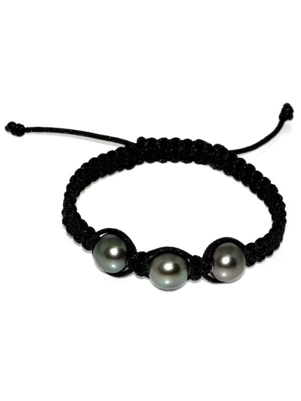 Bracelet Honura shamballa 3 perles Moea Perles - 1