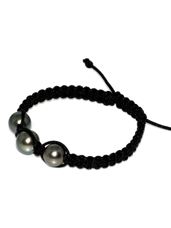 Bracelet Honura shamballa 3 perles Moea Perles - 2