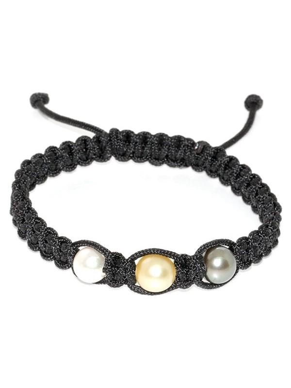 Bracelet Enata shamballa 3 perles Moea Perles - 1