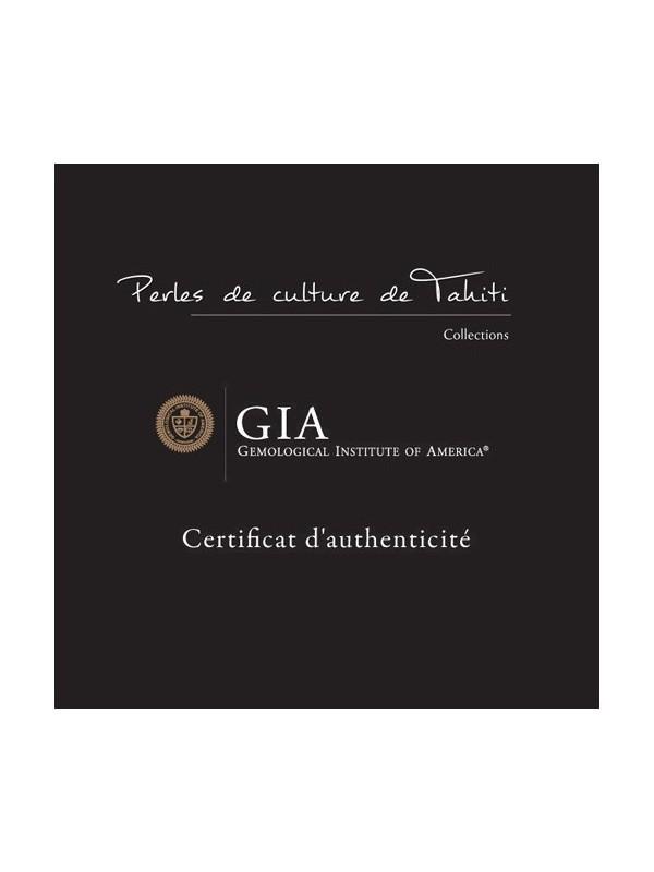 Collier cuir noir Ara Moea Perles - 3