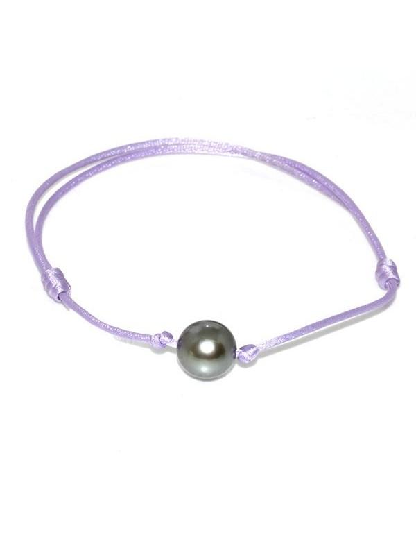 Bracelet coton mauve Moea Perles - 1