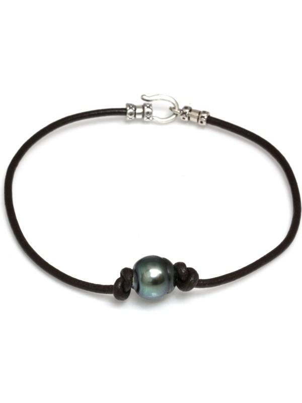 Bracelet cuir naturel Moea Perles - 1