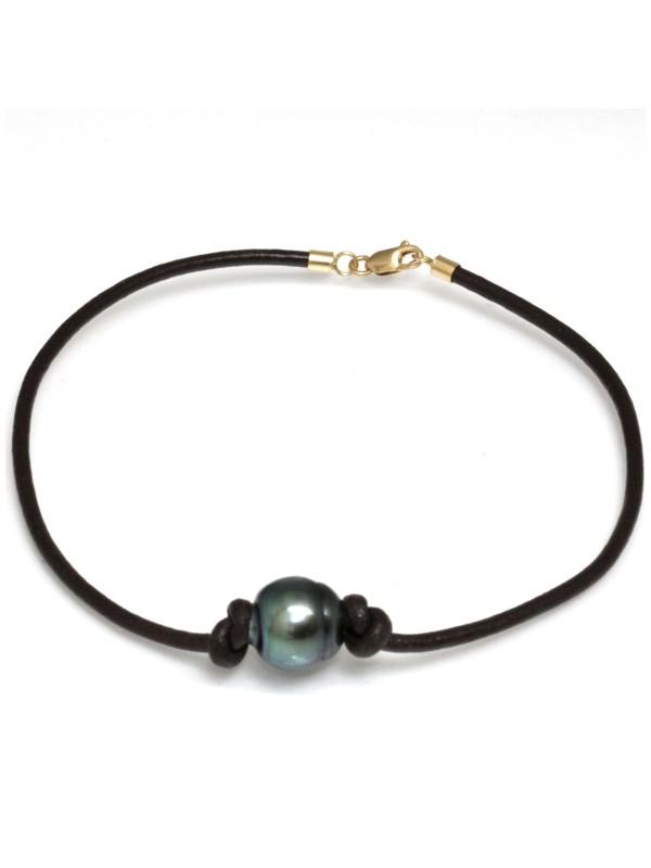 Bracelet cuir naturel Moea Perles - 2