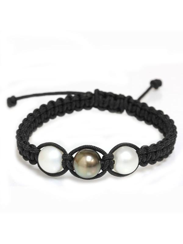 Bracelet Honu shamballa 3 perles Moea Perles - 1