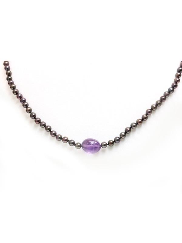 Collier perle Akoya et Améthyste Moea Perles - 2