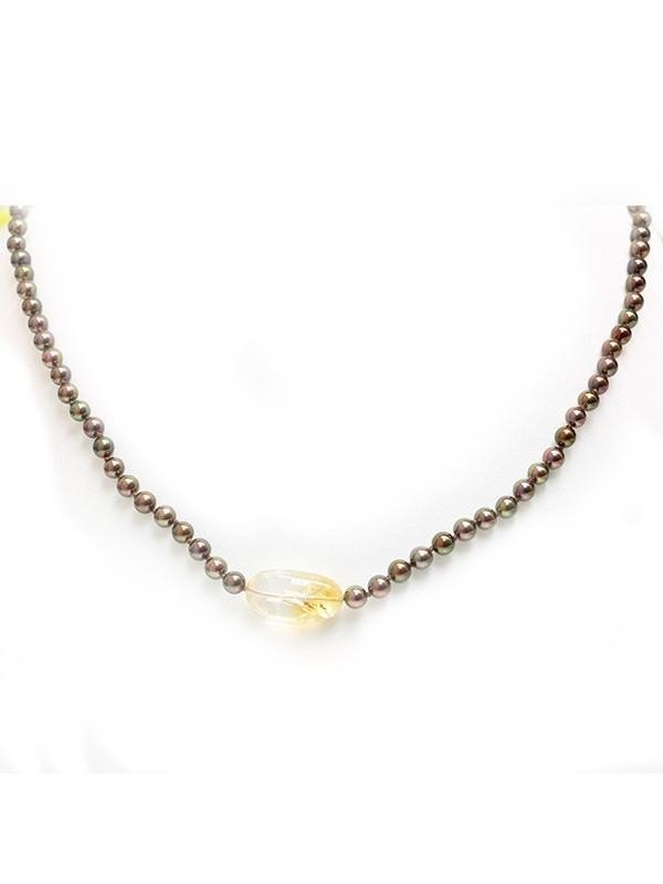 Collier perle Akoya et Citrine Moea Perles - 2