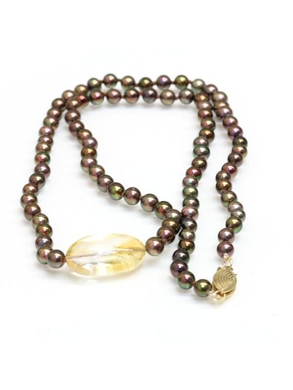Collier perle Akoya et Citrine Moea Perles - 1
