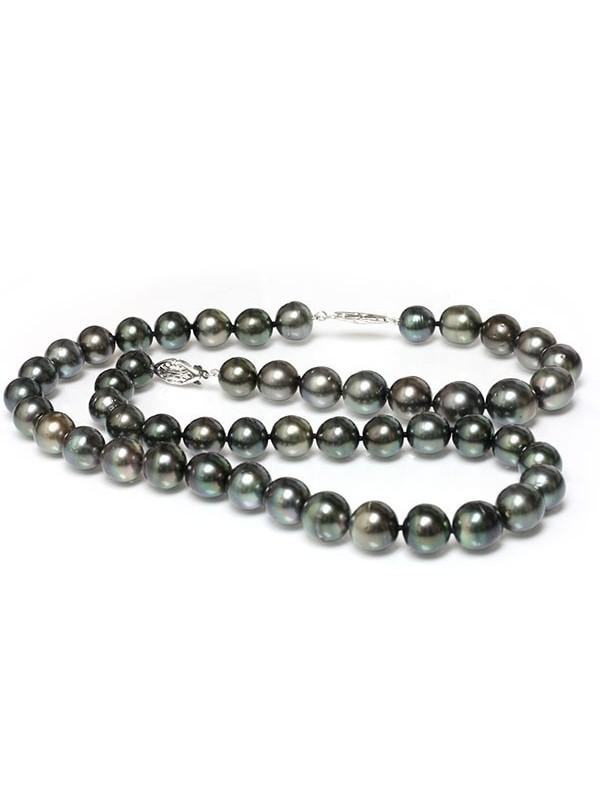 Collier et bracelet Bora rond 10-12mm Moea Perles - 1