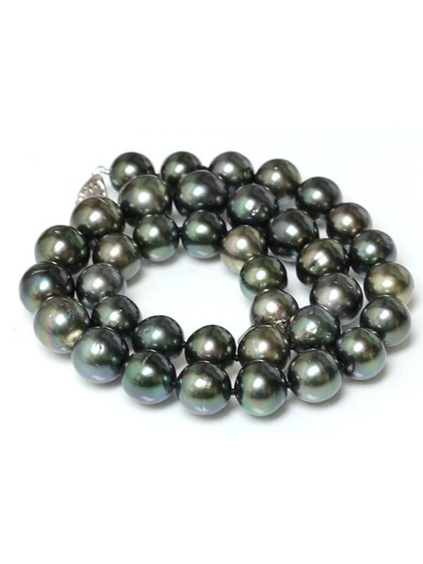 Collier et bracelet Bora rond 10-12mm Moea Perles - 5