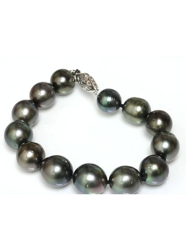 Collier et bracelet Bora rond 10-12mm Moea Perles - 4