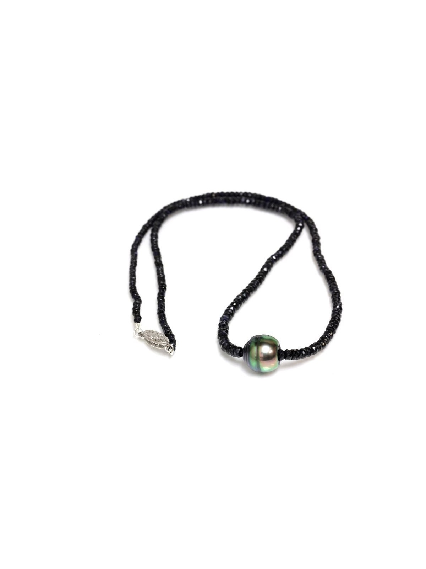 Collier perle tahiti et saphir Moea Perles - 1