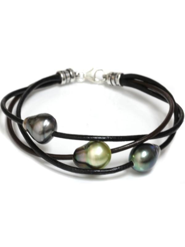 Bracelet 3 perles Ina Moea Perles - 1