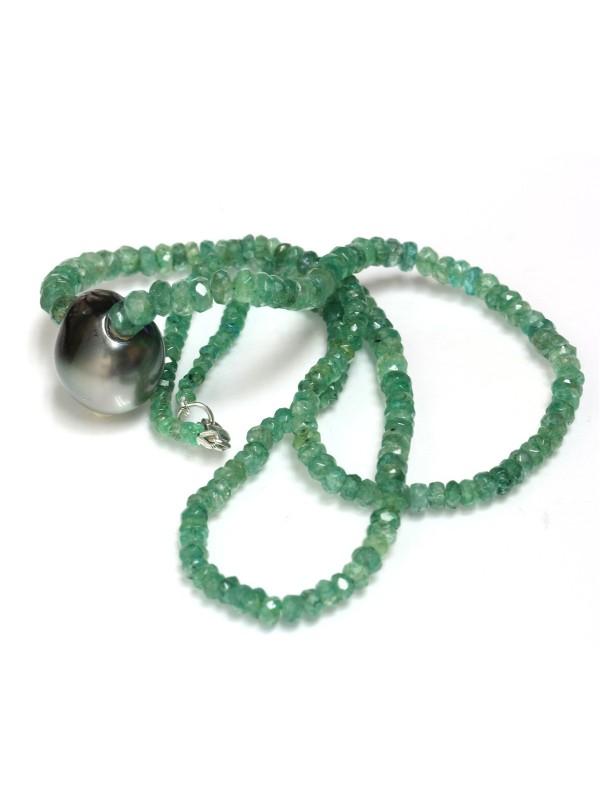 Collier perle tahiti et émeraude Moea Perles - 3