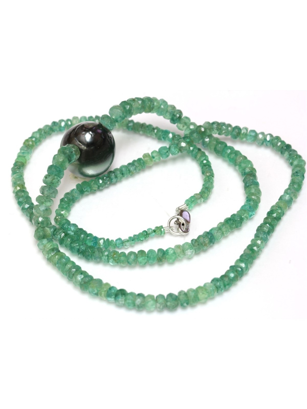 Collier perle tahiti et émeraude Moea Perles - 4