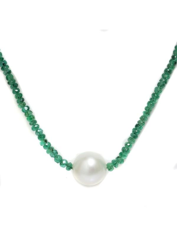 Collier perle australie et émeraude Moea Perles - 2