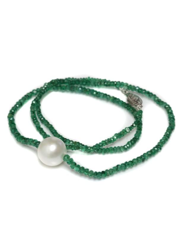 Collier perle australie et émeraude Moea Perles - 1