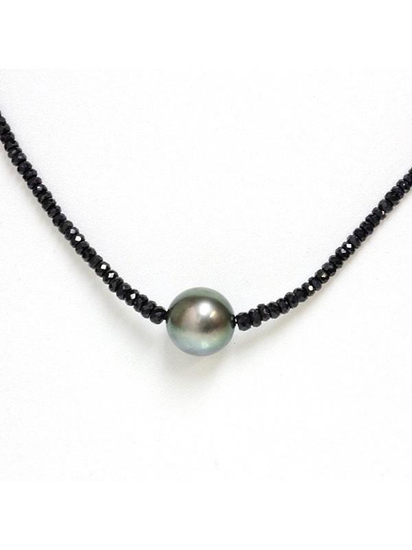 Collier perle tahiti ronde et saphir Moea Perles - 2