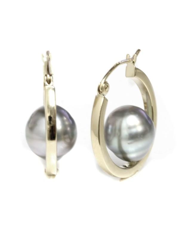 Boucles d'oreilles créoles Nina Moea Perles - 3