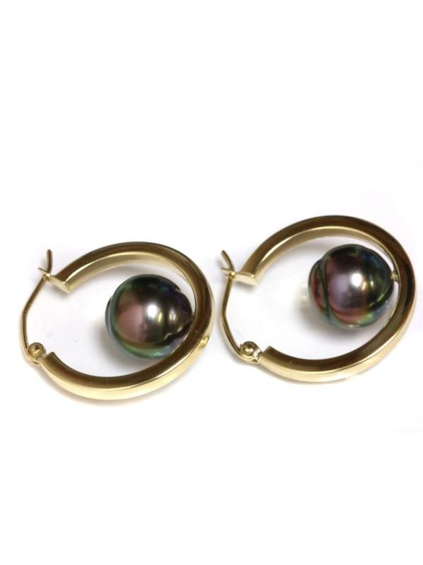 Boucles d'oreilles créoles Nina Moea Perles - 4