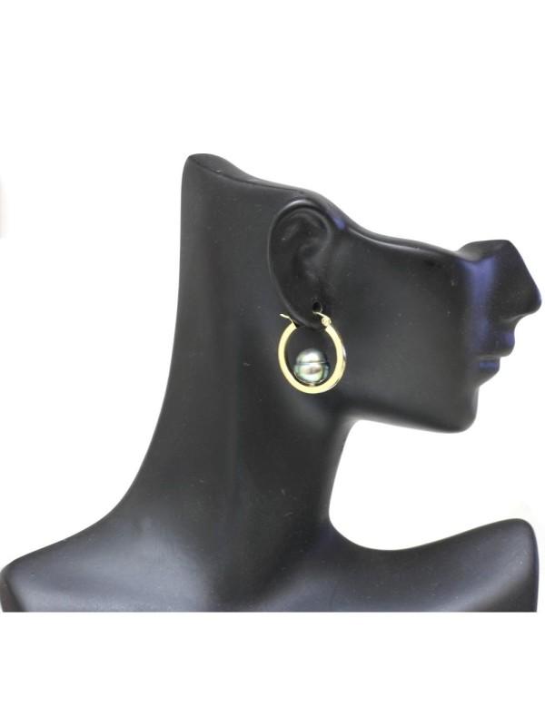 Boucles d'oreilles créoles Nina Moea Perles - 7