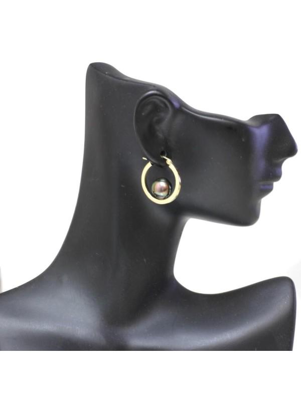 Boucles d'oreilles créoles Nina Moea Perles - 8