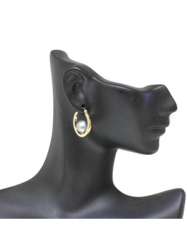 Boucles d'oreilles créoles Nina Moea Perles - 9