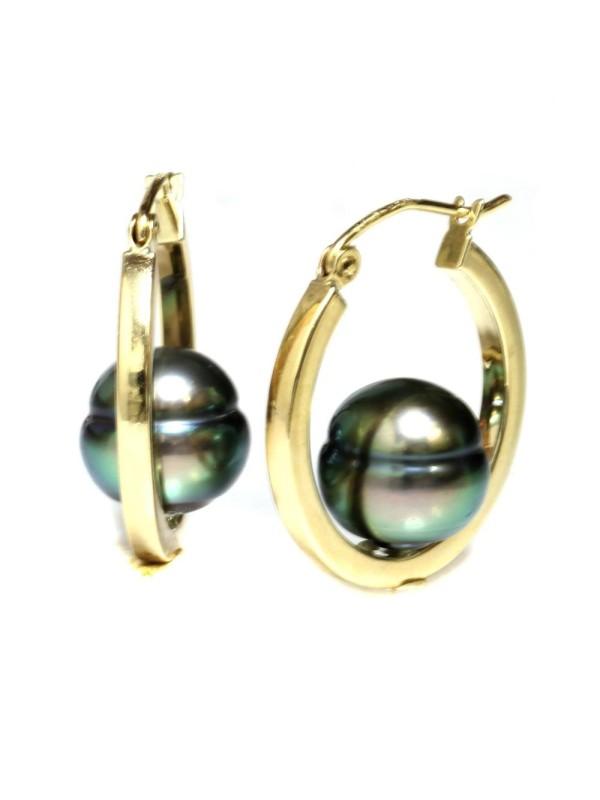Boucles d'oreilles créoles Nina Moea Perles - 2