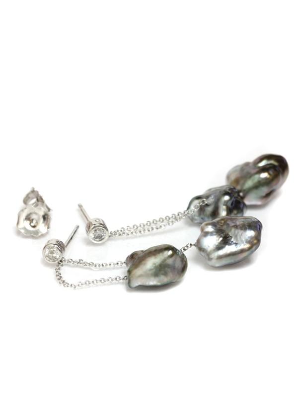 Boucles d'oreilles Keshi Mylla Moea Perles - 2