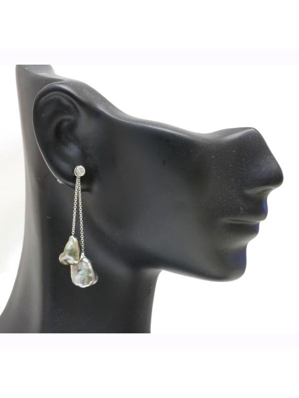 Boucles d'oreilles Keshi Mylla Moea Perles - 3