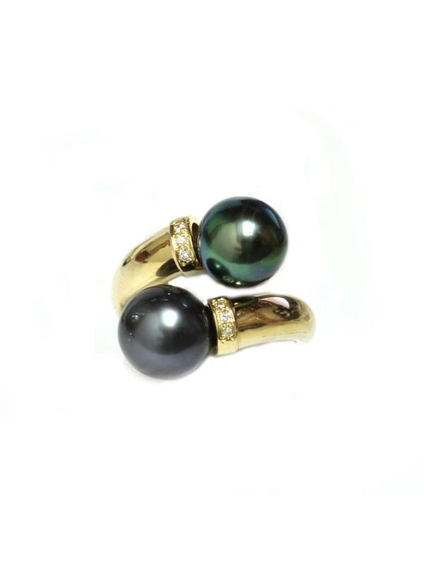 Bague toi et moi or perle de tahiti Moea Perles - 1