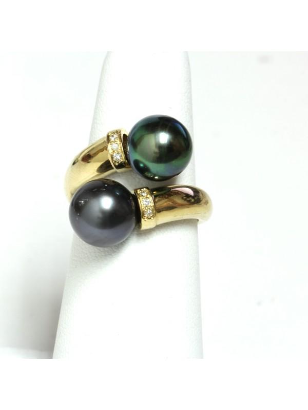 Bague toi et moi or perle de tahiti Moea Perles - 2