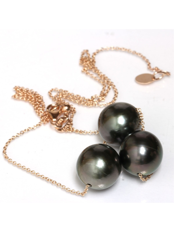 Collier Mia 3 perles de tahiti Moea Perles - 2
