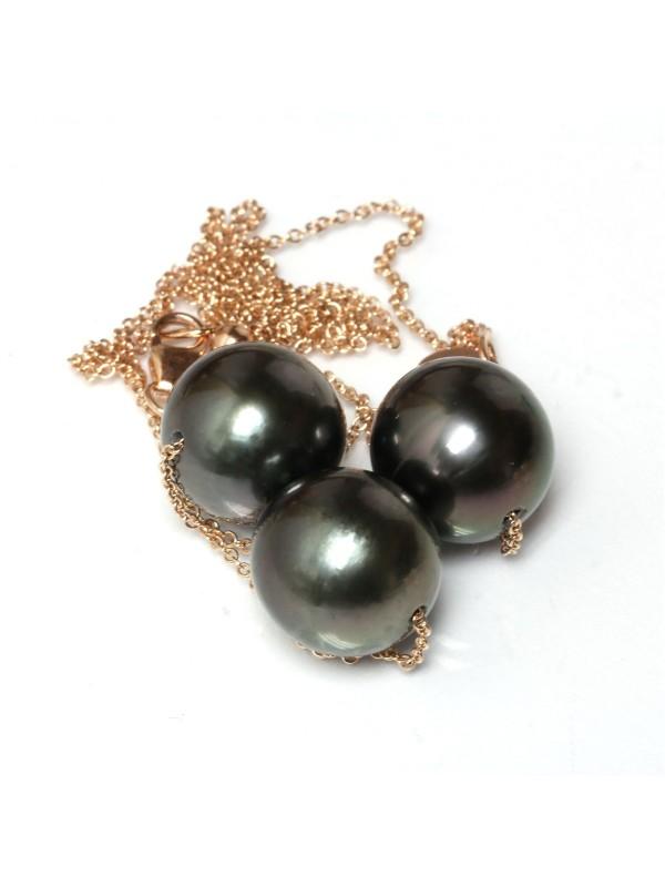Collier Mia 3 perles de tahiti Moea Perles - 3