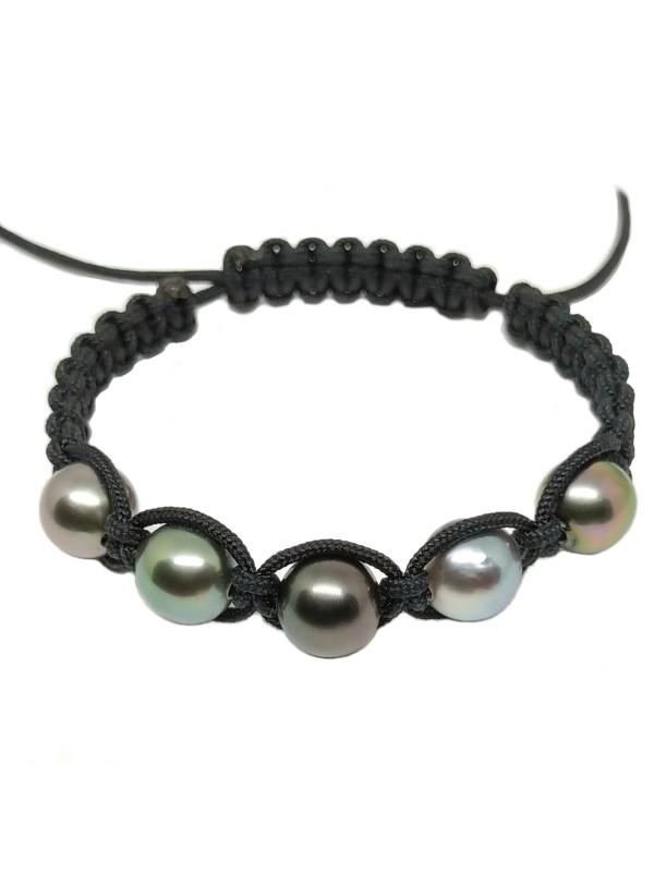 Bracelet Inapo shamballa 5 perles Moea Perles - 2