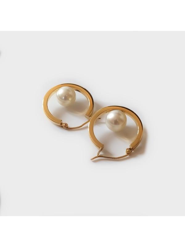 Boucles d'oreilles Akoya Ho Moea Perles - 8