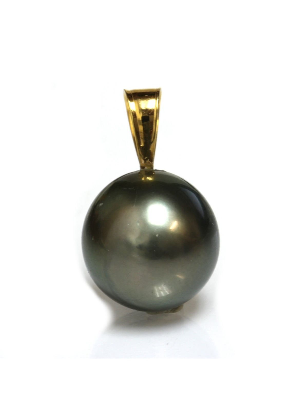 Pendentif en or Tiare perle de Tahiti Moea Perles - 2