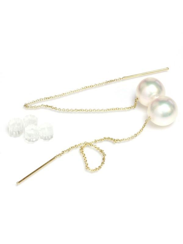 Boucles d'oreilles Avea perles Akoya AAA Moea Perles - 5