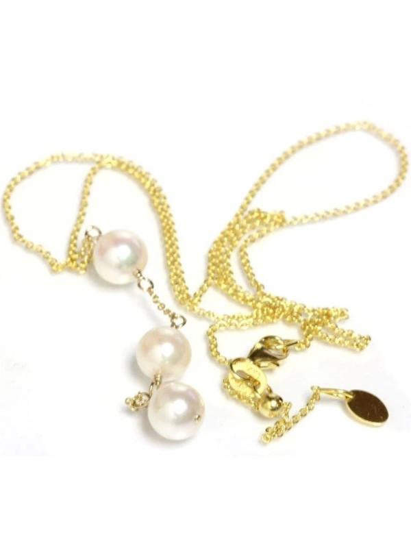 Collier Nui 3 perles japonaises Akoya -2