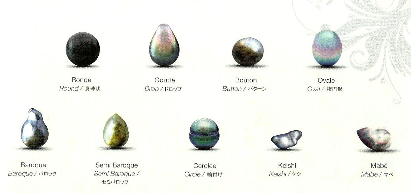 forme perles de tahiti